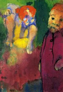 Emile Nolde - Old Man and Wood Gnome