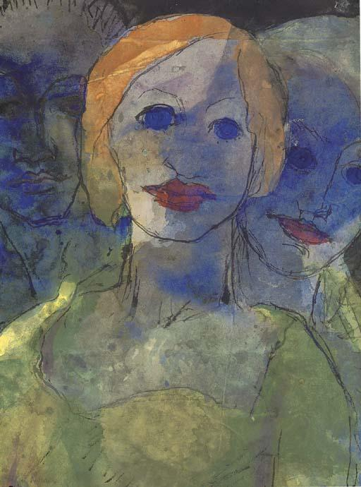 Phantasie by Emile Nolde (1867-1956, Germany) |  | WahooArt.com
