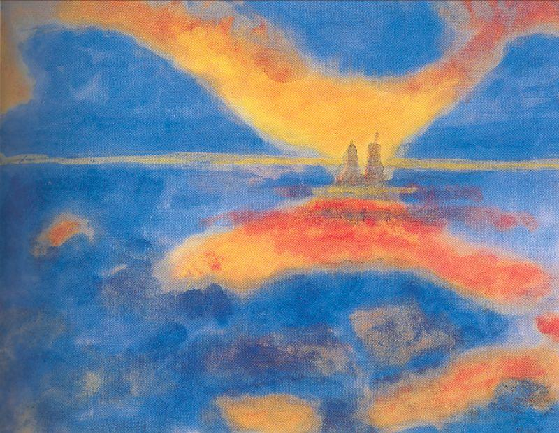 Red Clouds by Emile Nolde (1867-1956, Germany) | Oil Painting | WahooArt.com