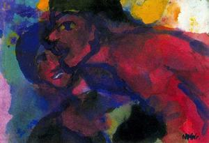 Emile Nolde - Red Man and Woman