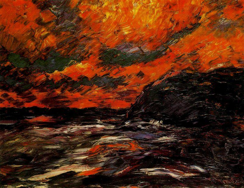 Sea in autumn IX by Emile Nolde (1867-1956, Germany) | Oil Painting | WahooArt.com