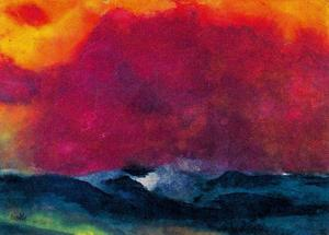 Emile Nolde - Sea with Red Sky