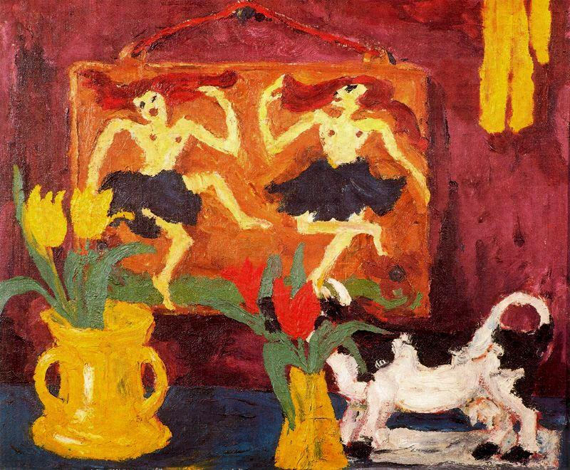 Still life with balerinas by Emile Nolde (1867-1956, Germany) | Painting Copy | WahooArt.com