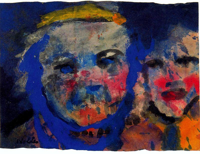 Strange Couple by Emile Nolde (1867-1956, Germany) | Museum Quality Reproductions | WahooArt.com