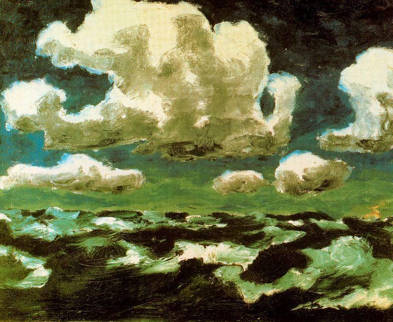 Summer Clouds by Emile Nolde (1867-1956, Germany) | Famous Paintings Reproductions | WahooArt.com