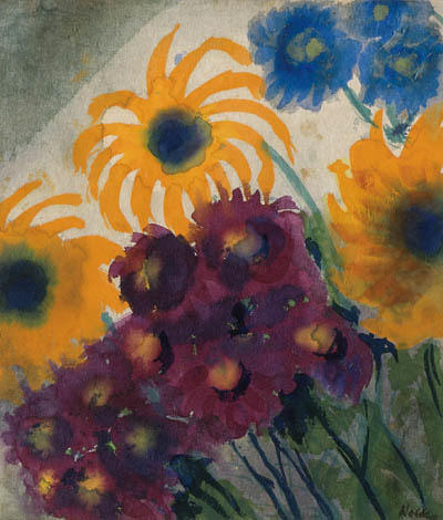 Summer flowers 2 by Emile Nolde (1867-1956, Germany) |  | WahooArt.com