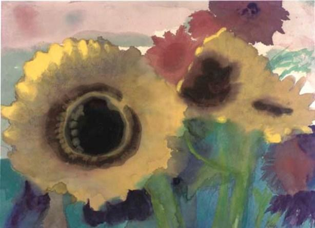 Sunflowers 1 by Emile Nolde (1867-1956, Germany) | Museum Quality Reproductions | WahooArt.com