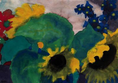 Sunflowers 3 by Emile Nolde (1867-1956, Germany) | Painting Copy | WahooArt.com