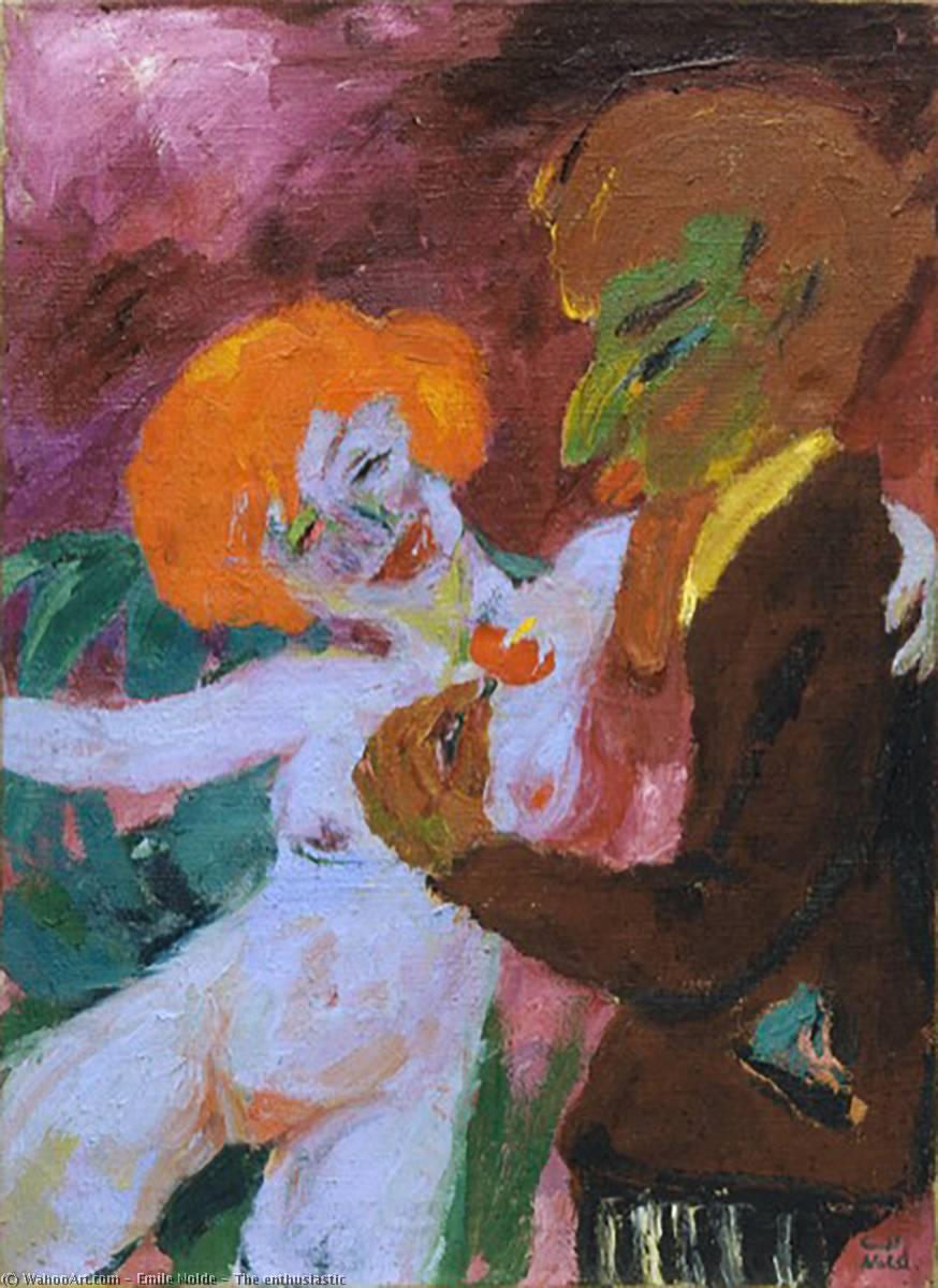 The enthusiastic by Emile Nolde (1867-1956, Germany) |  | WahooArt.com