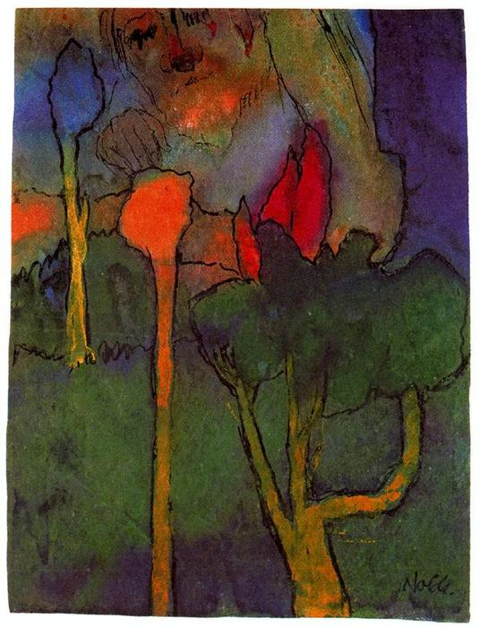 The Great Gardener by Emile Nolde (1867-1956, Germany) | Painting Copy | WahooArt.com