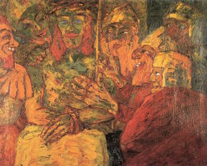 Emile Nolde - The Mocking of Christ - (Famous paintings)