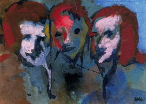 Emile Nolde - Theree Heads