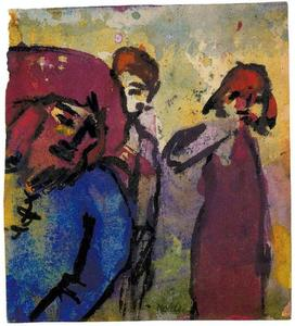 Emile Nolde - Three Figures