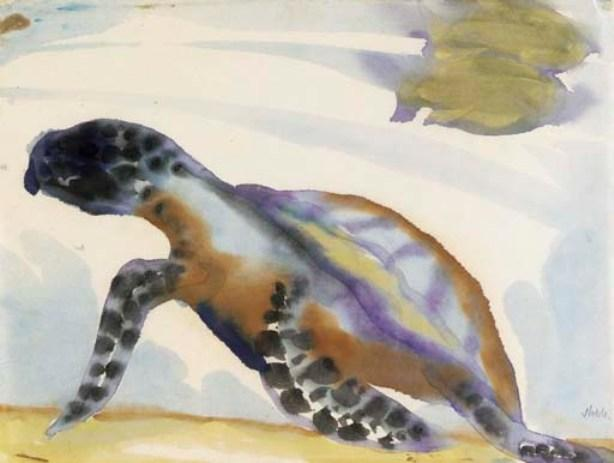 Turtle by Emile Nolde (1867-1956, Germany) | Painting Copy | WahooArt.com