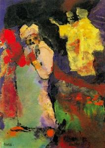 Emile Nolde - Two Couples (in a Park)