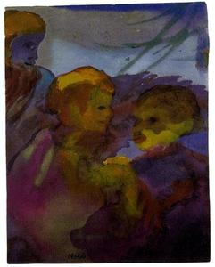 Emile Nolde - Two Women (Bearded Olderr Man)