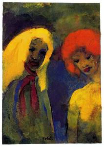 Emile Nolde - Two Women (Yellow and Red Hair)