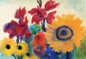 Emile Nolde - Vibrant Blooming