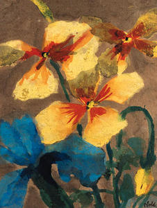 Emile Nolde - Yellow and Blue Amaryllis
