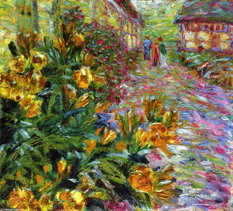 Yellow Flowering Shrub by Emile Nolde (1867-1956, Germany) | Art Reproduction | WahooArt.com