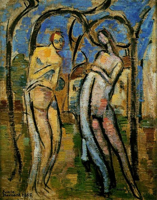 Adam and Eve by Emile Bernard (1868-1941, France)