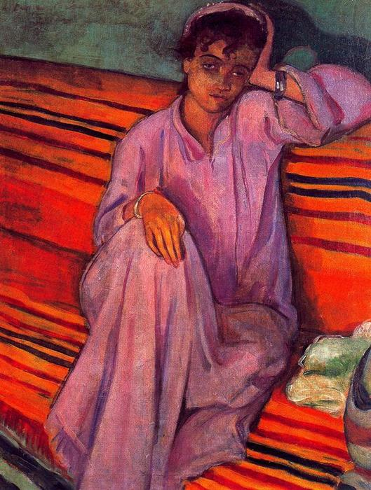 African woman by Emile Bernard (1868-1941, France)