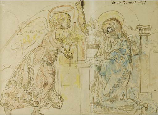 Annunciation by Emile Bernard (1868-1941, France)