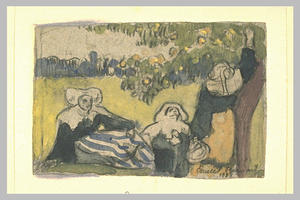 Emile Bernard - Apple picking