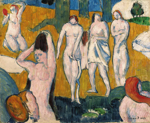 Baigneuses by Emile Bernard (1868-1941, France)
