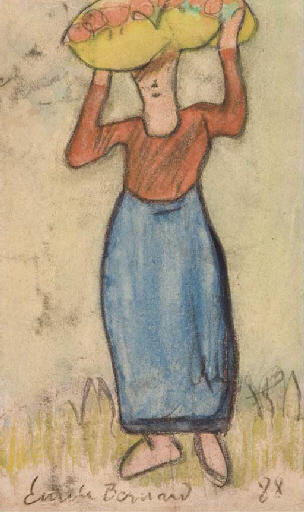 Bearing apple by Emile Bernard (1868-1941, France)