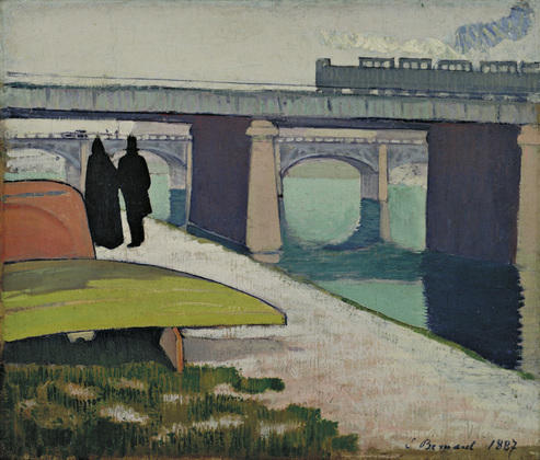 Iron Bridges at Asnières by Emile Bernard (1868-1941, France)
