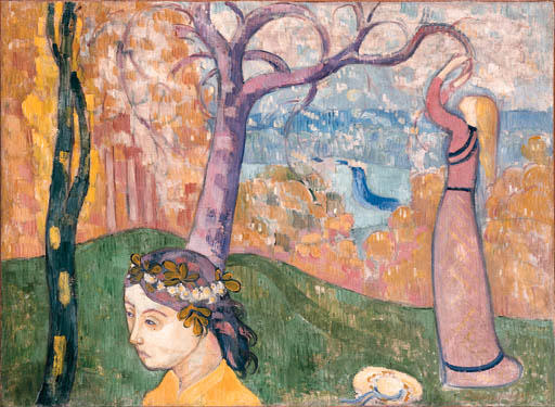 Madeleine at the tree of love by Emile Bernard (1868-1941, France)