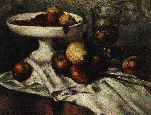 Still Life with Apples by Emile Bernard (1868-1941, France)