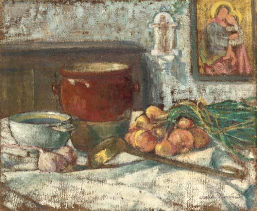 Still Life with Onions by Emile Bernard (1868-1941, France)
