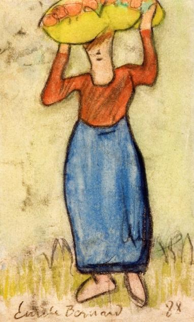 The Apple Carrier by Emile Bernard (1868-1941, France)