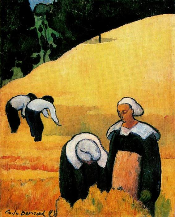 The Harvest by Emile Bernard (1868-1941, France)