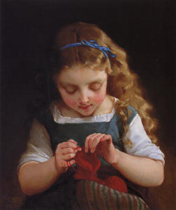 Emile Munier - A Careful Stitch