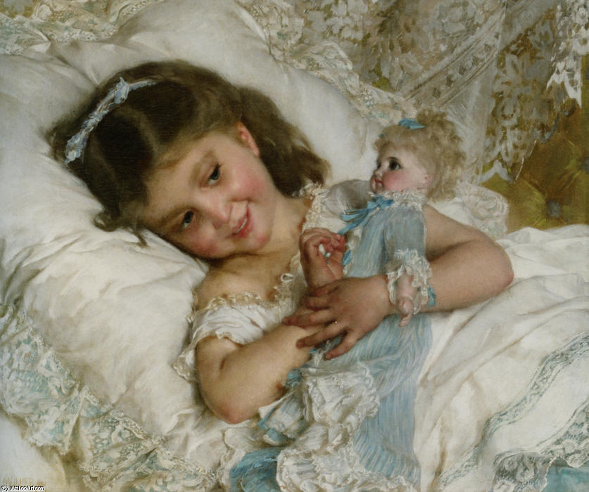 Friends by Emile Munier (1840-1895, France) | Oil Painting | WahooArt.com