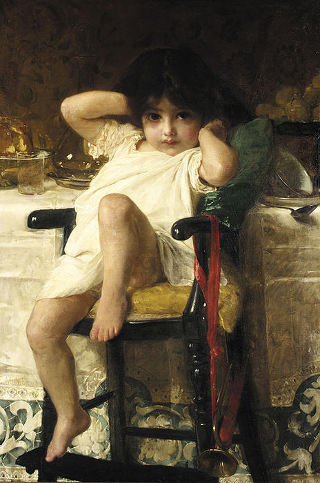 In Penance by Emile Munier (1840-1895, France) | Oil Painting | WahooArt.com