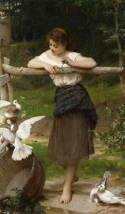 Emile Munier - Teasing the Doves