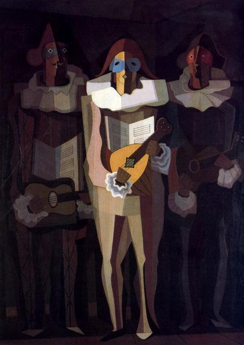 Improvisers by Emilio Pettoruti (1892-1971, Argentina) | Museum Quality Reproductions | WahooArt.com
