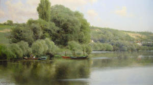 Emilio Sanchez-Perrier - Calm Waters at Chaponval