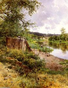 Emilio Sanchez-Perrier - On The River Bank