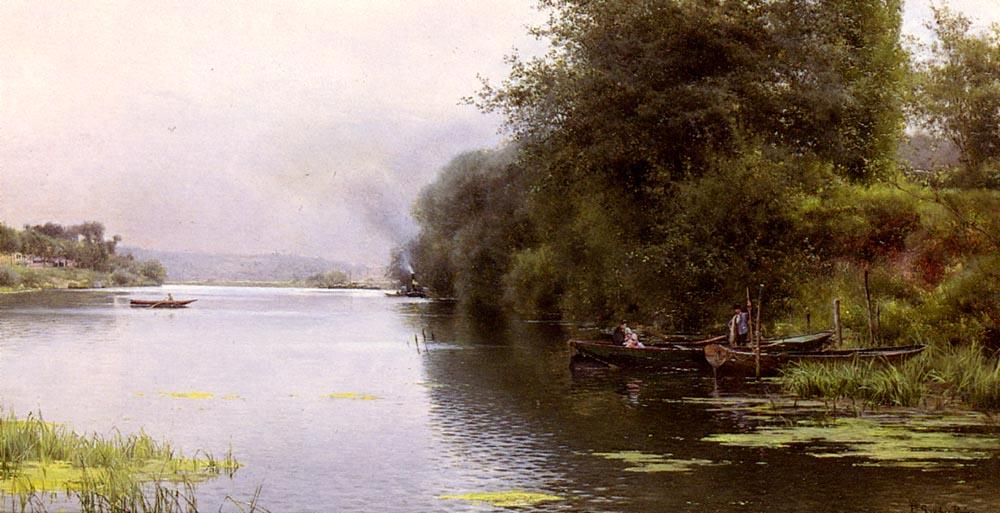 The Ferry by Emilio Sanchez-Perrier (1855-1907, Spain)