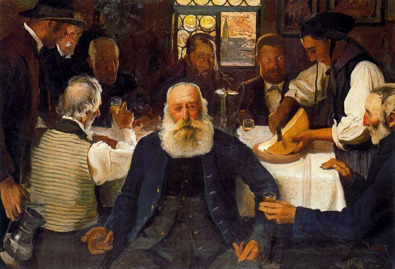 Accounts of the pasture or La Raclette by Ernest Bieler (1863-1948, Switzerland)