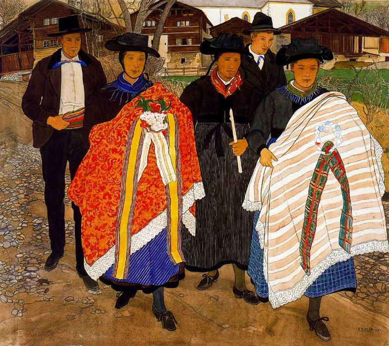 Return from the baptising by Ernest Bieler (1863-1948, Switzerland)