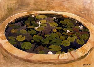 Ernest Bieler - Study for The mysterious Water. The lily pond