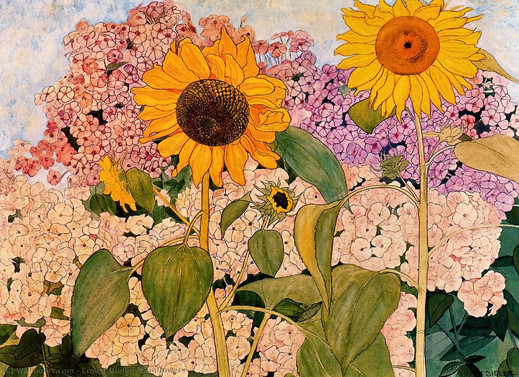Sunflowers by Ernest Bieler (1863-1948, Switzerland)