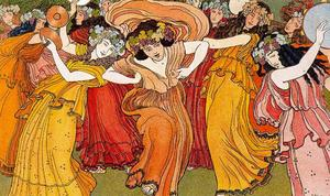 Order Paintings Reproductions | The Bacchae by Ernest Bieler (1863-1948, Switzerland) | WahooArt.com