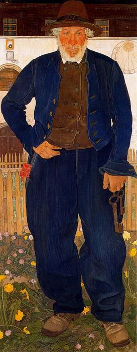 The Keys to the cellar by Ernest Bieler (1863-1948, Switzerland) | Reproductions Ernest Bieler | WahooArt.com